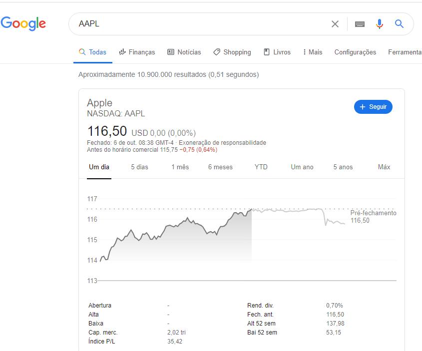 dicas do google financeiro
