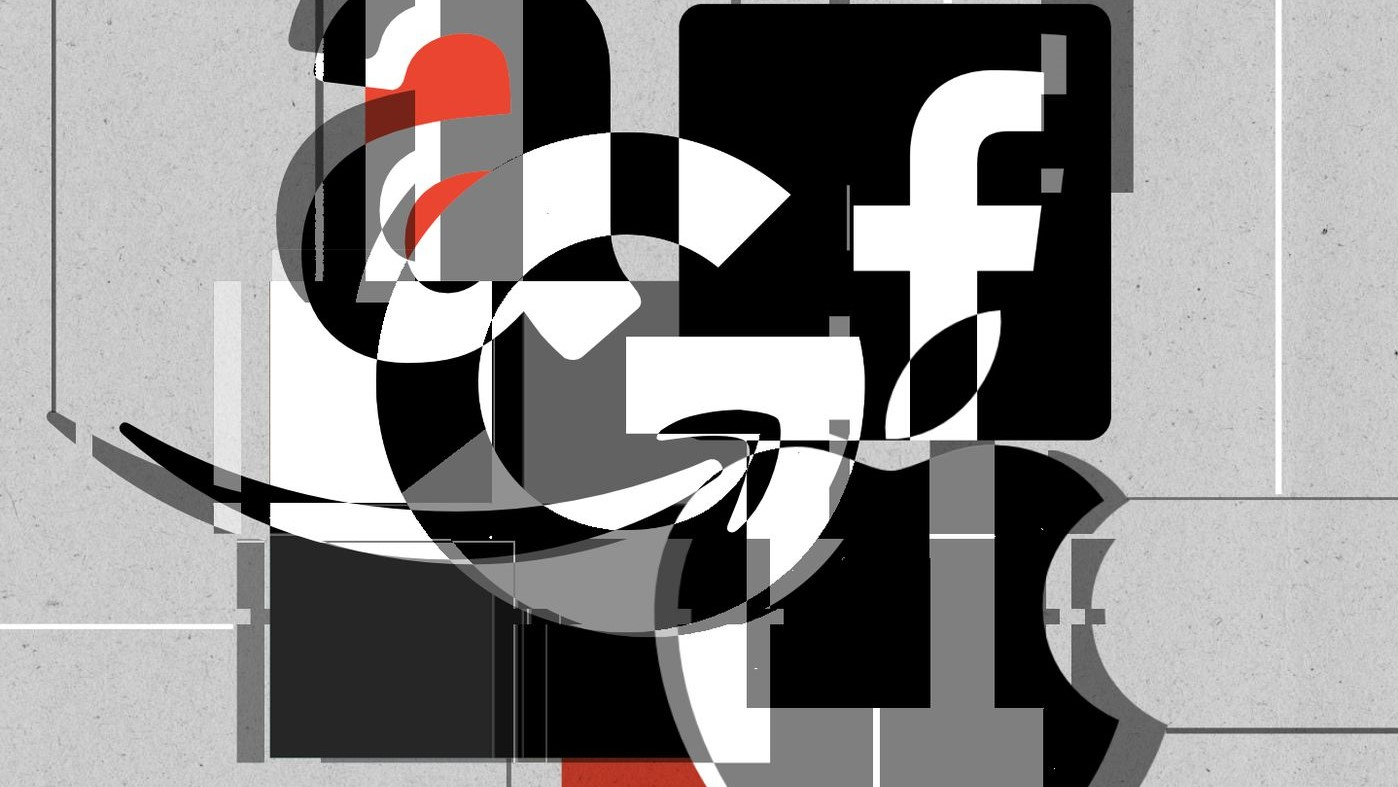 Logos das big techs envolvidas em investigação sobre monopólio
