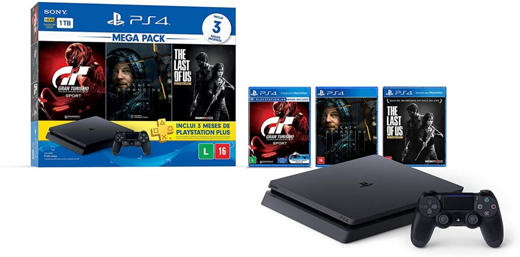 Imagem de um PlayStation 4 que estão em promoção no Amazon Prime Day