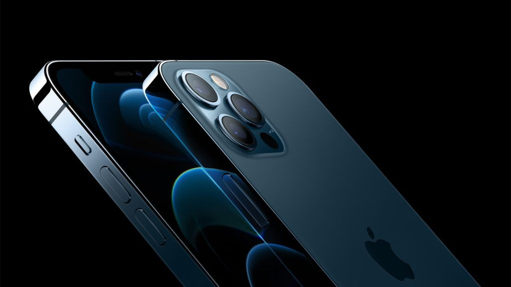 As três câmeras do iphone 12 pro.