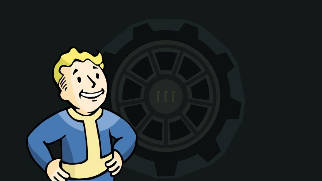 Imagem com o mascote da bethesda, o vault boy