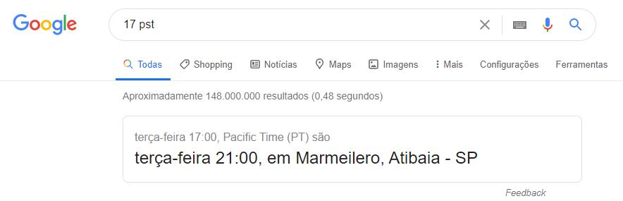 dicas do google timezone