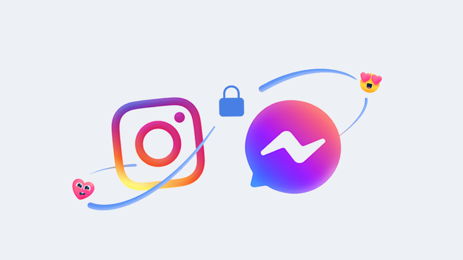 Ilustração da integração entre instagram e messenger