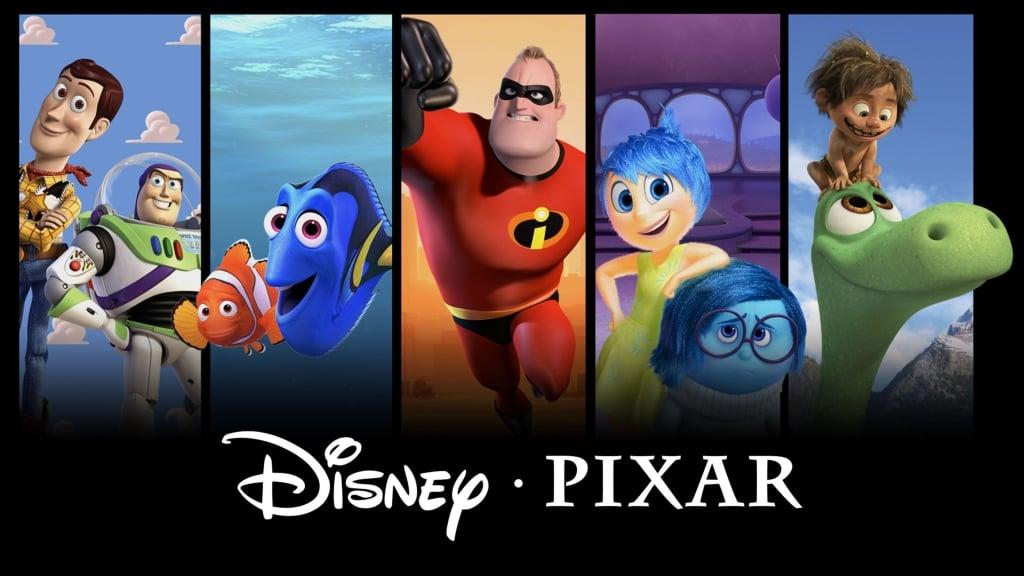 Montagem com filmes da disney pixar
