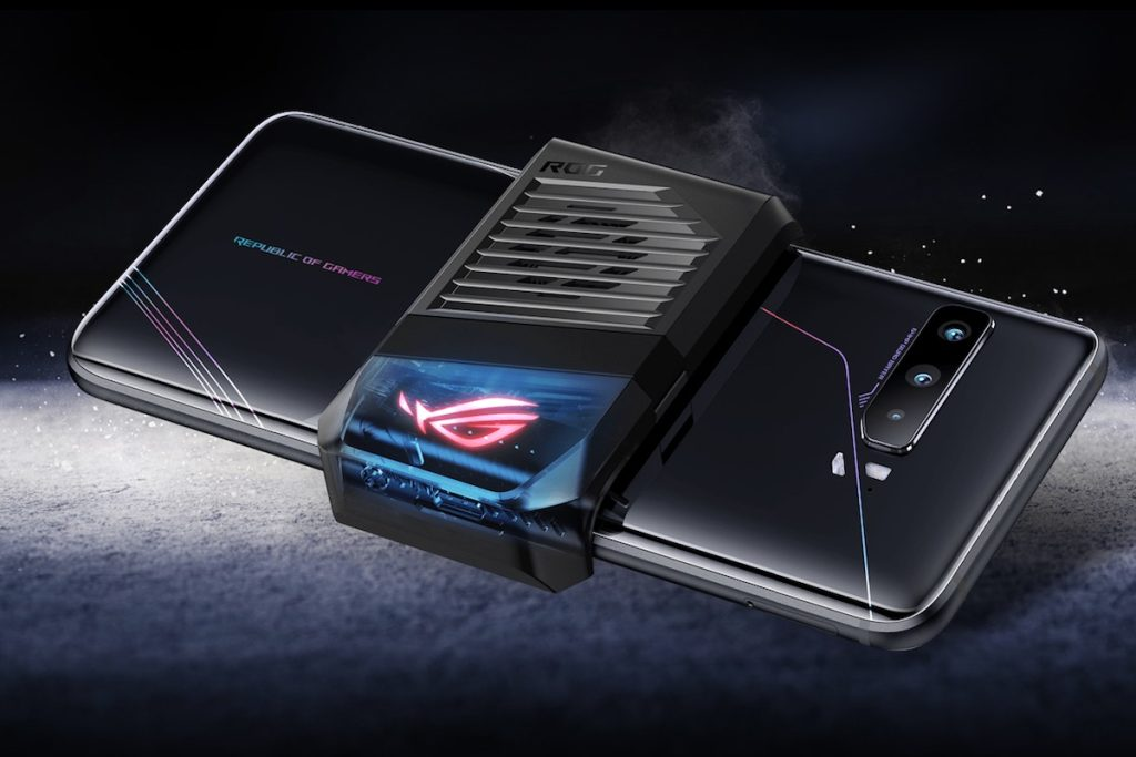 Dispositivo aeroactive cooler 3 do rog phone 3 da asus