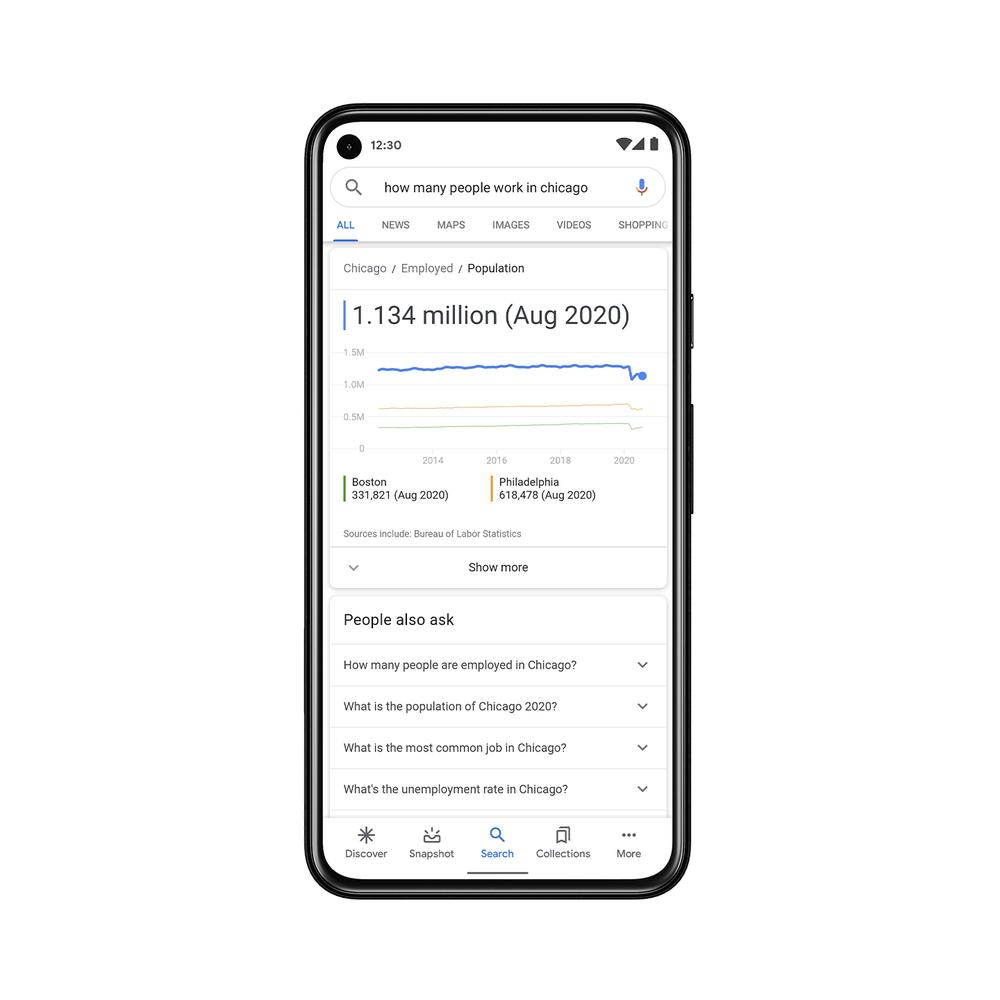 Print das novidades do Google Search On 2020