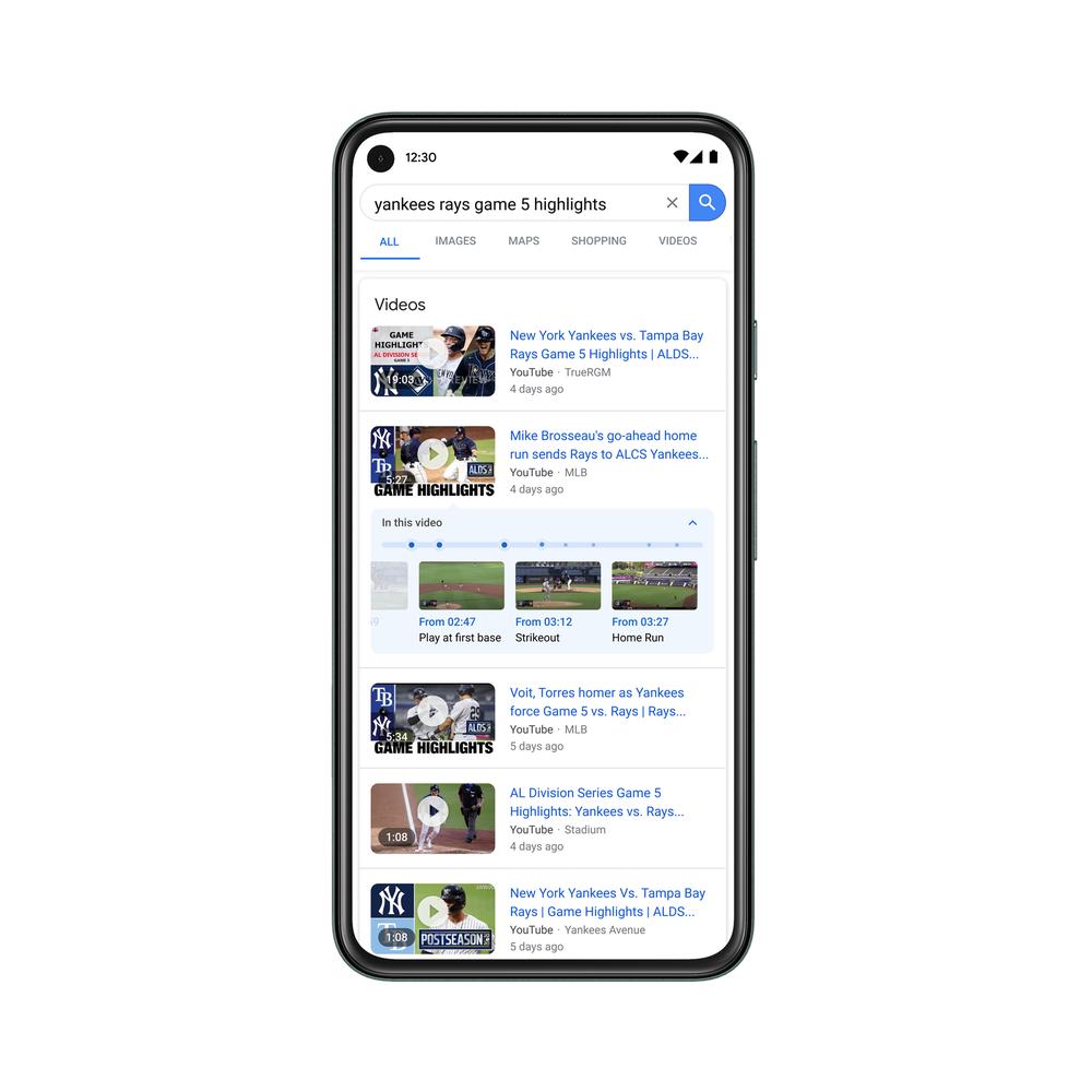 Prints das novidades do Google Search On 2020