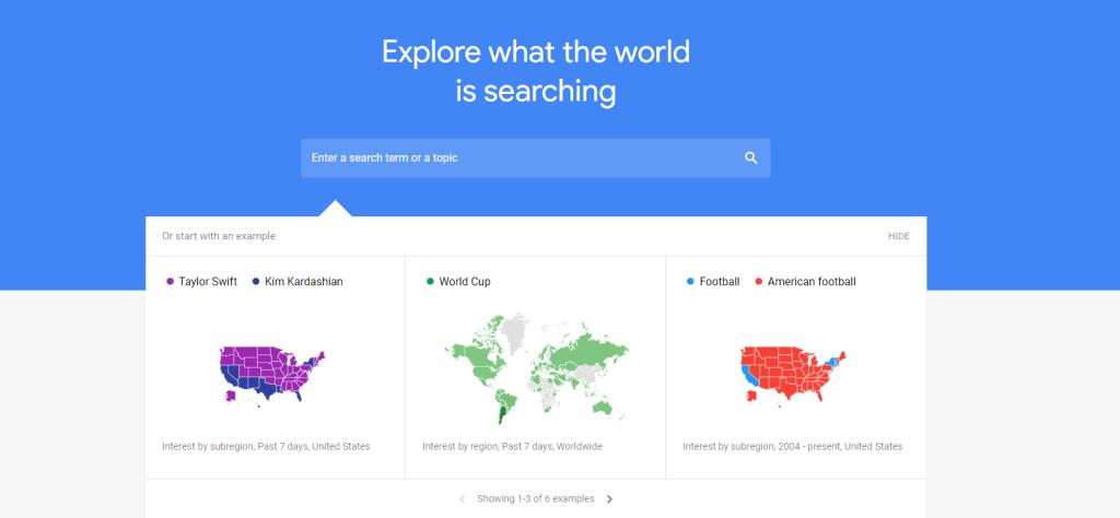 dicas do google trends