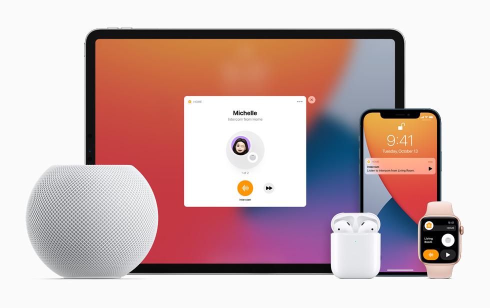 Homepod mini e outros aparelhos da apple