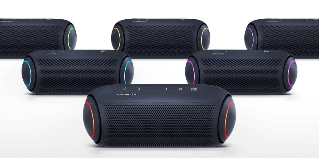 Foto de vários modelos PL5 das novas XBOOM Go PL da LG