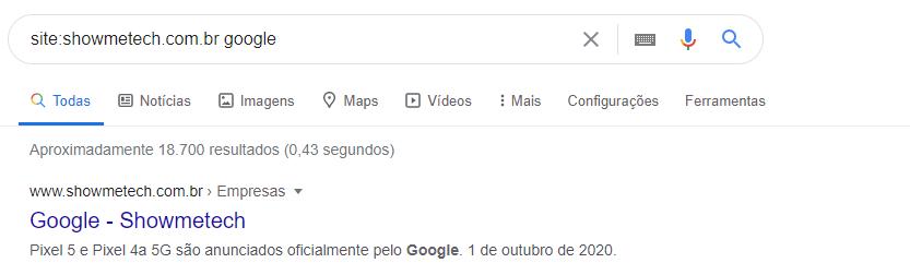 dicas do google específica