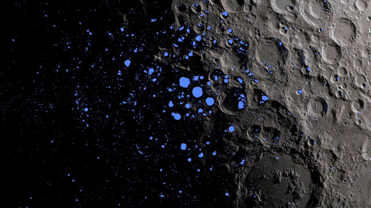 Telescópio da nasa revela prova definitiva de água na lua. Usando um boeing 747sp modificado para captar raios infravermelhos, a agência espacial encontrou evidência de água na lua em sua face iluminada pelo sol