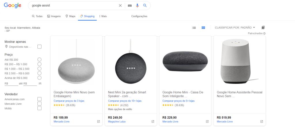 dicas do google shopping
