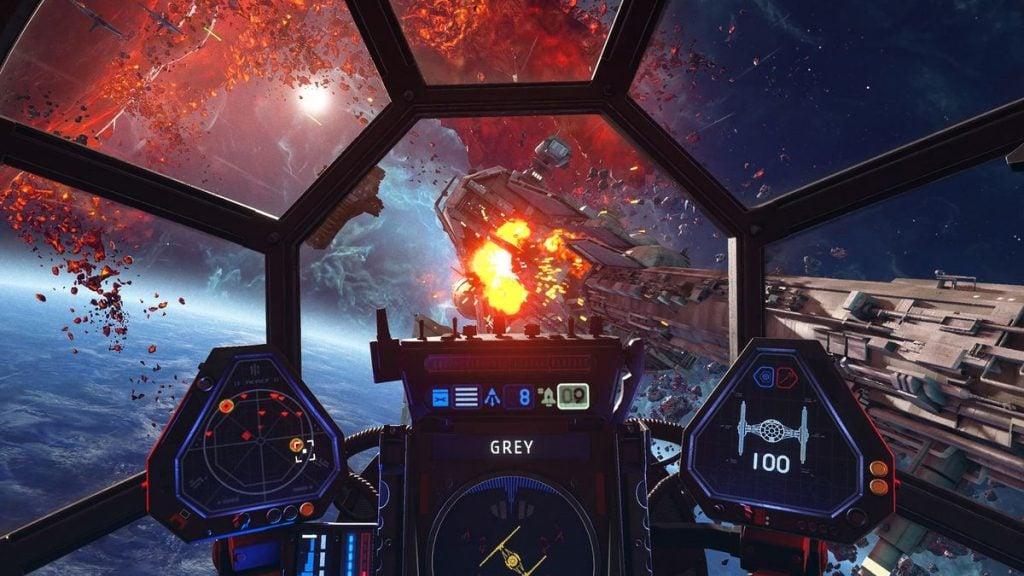Detalhes visuais de star wars squadrons