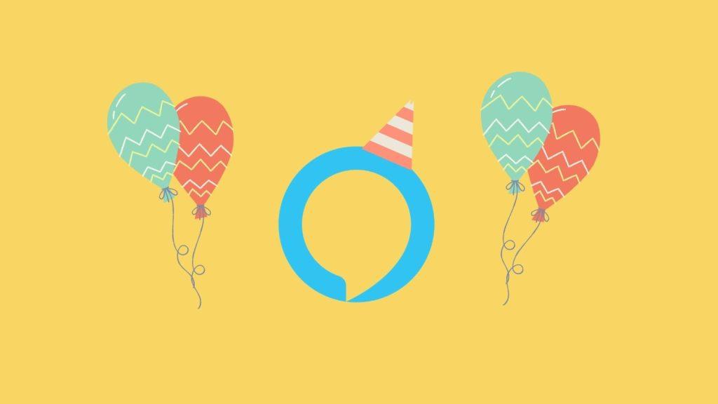 Montagem sobre aniversário da alexa no brasil