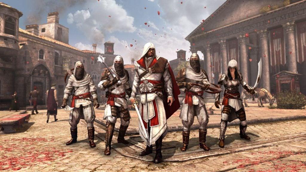 Assassinos em assassin's creed brotherhood