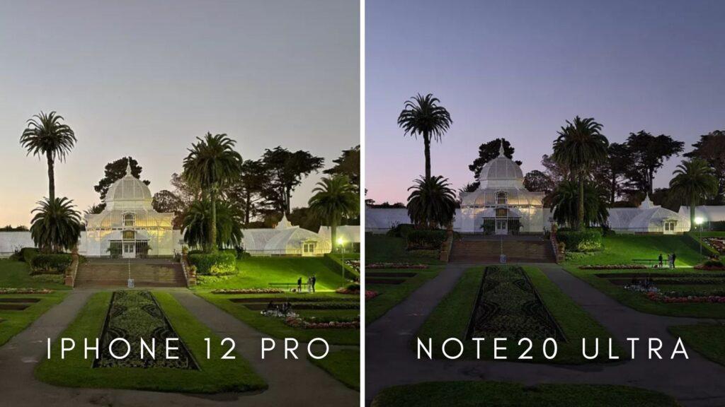 Fotos do iphone 12 pro e do note20 ultra