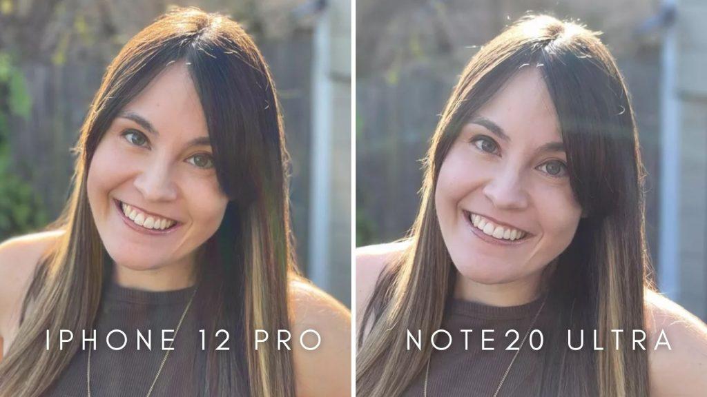 Fotos da câmera do iphone 12 pro e do note20 ultra