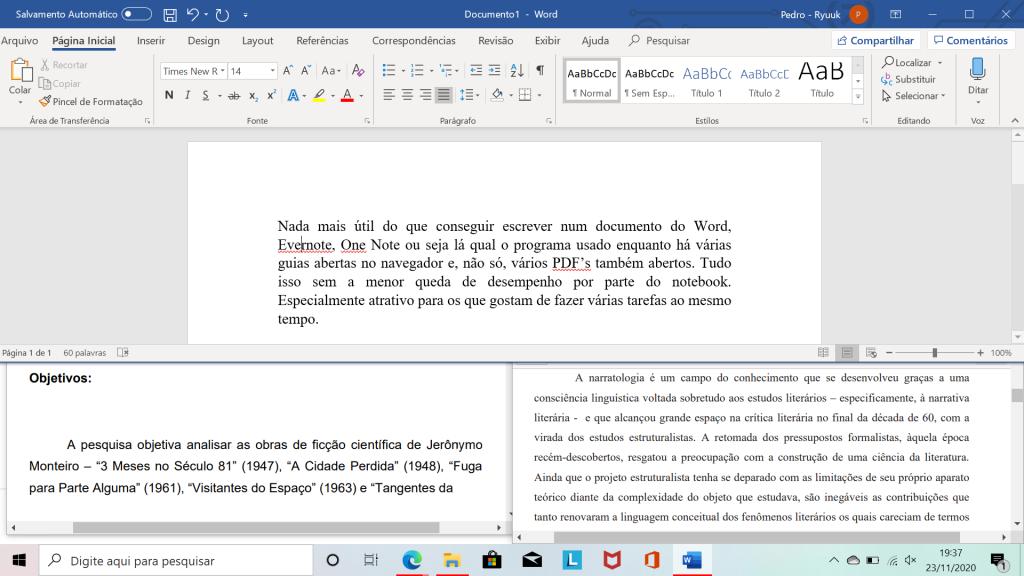 Captura de tela de várias guias abertas no notebook da lenovo