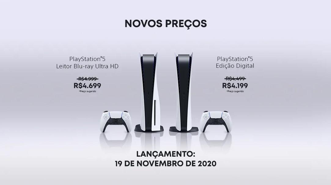 Sony anuncia redução de preço do ps5 no brasil, veja os novos valores. A nova lei do ipi para o mercado de games causou a redução de preço do ps5, que também já havia sido anunciada para o xbox series x e s