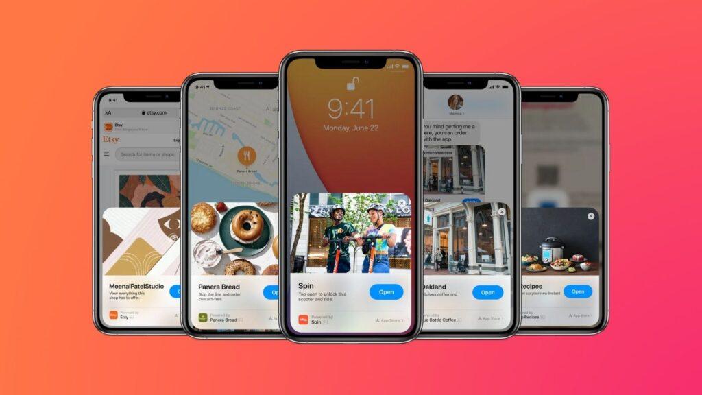 App clips, que é uma das dicas e truques para iphone 12
