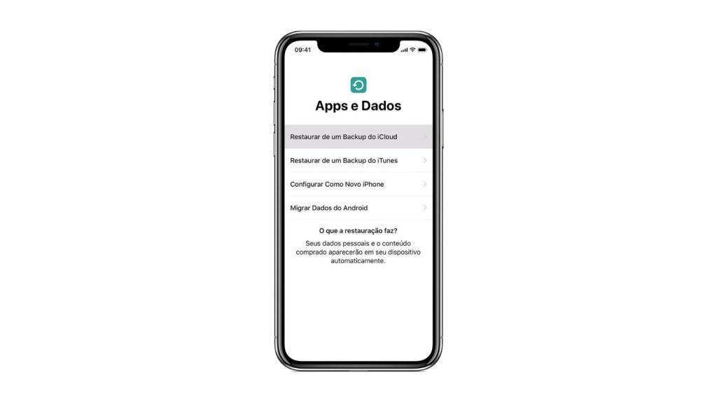 Backup do icloud, que é uma das dicas e truques para iphone 12
