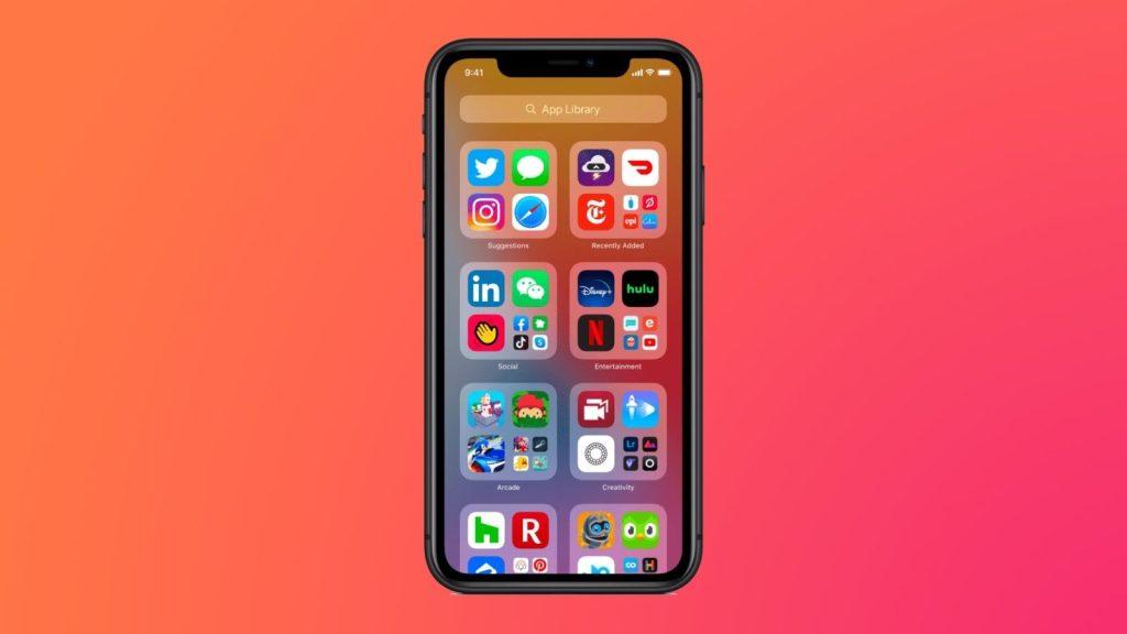Biblioteca de apps, que é uma das dicas e truques para iphone 12