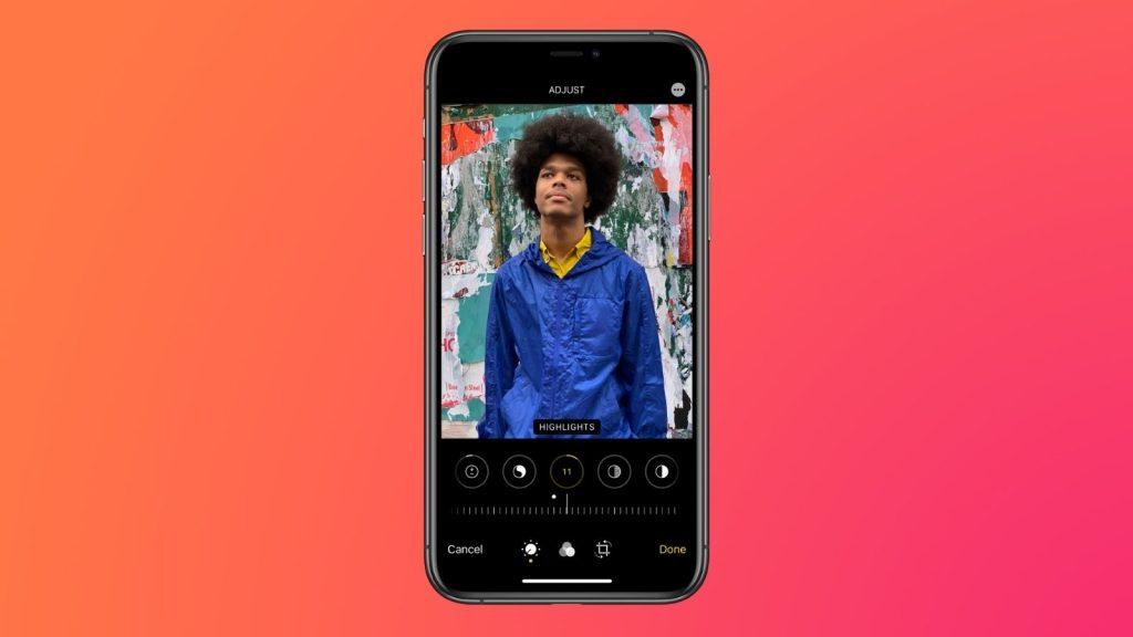 Edição de fotos no app fotos, que é uma das dicas e truques para iphone 12