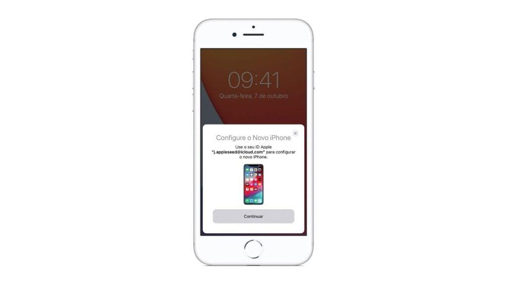 Início rápido, uma das dicas e truques para iphone 12