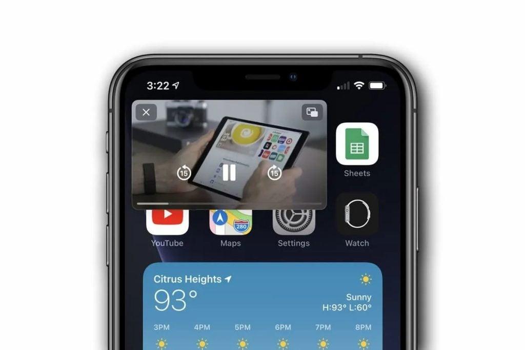 Modo picture-in-picture para vídeo, uma das dicas e truques para iphone 12