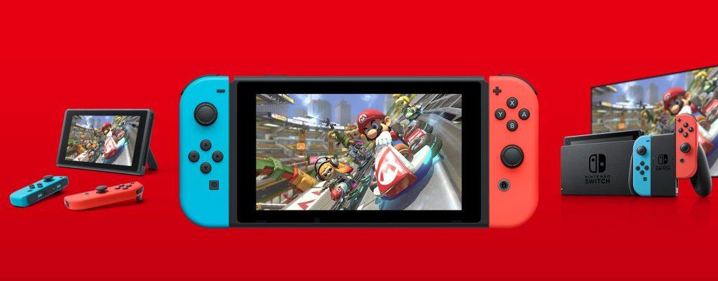 Imagem do nintendo switch, que é um dos videogames na black friday
