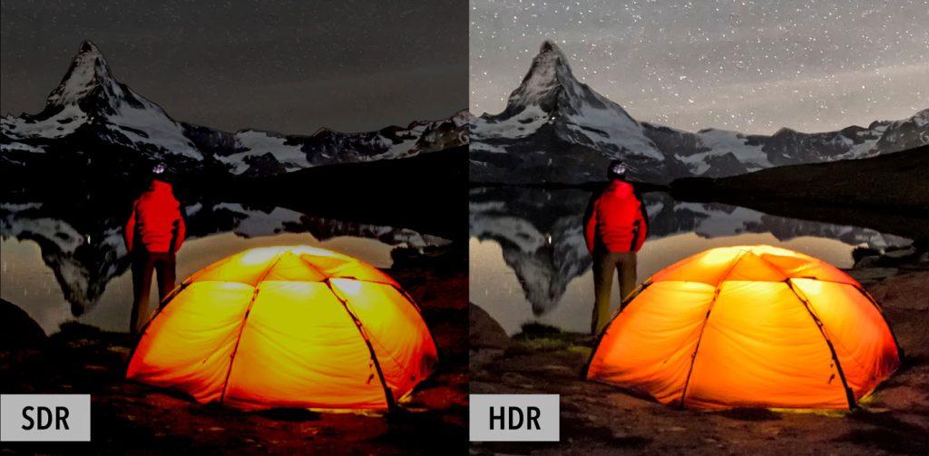 Comparação entre hdr e sdr para mostrar qual a diferença entre os tipos de hdr, começando pela explicação acerca do que é a tecnologia.