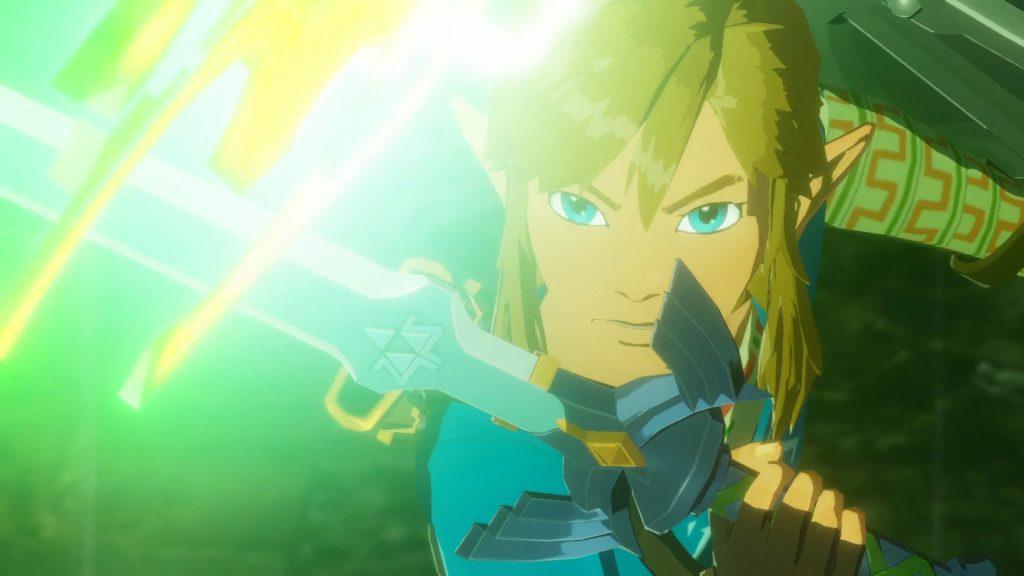 Link enfrentando um monstro