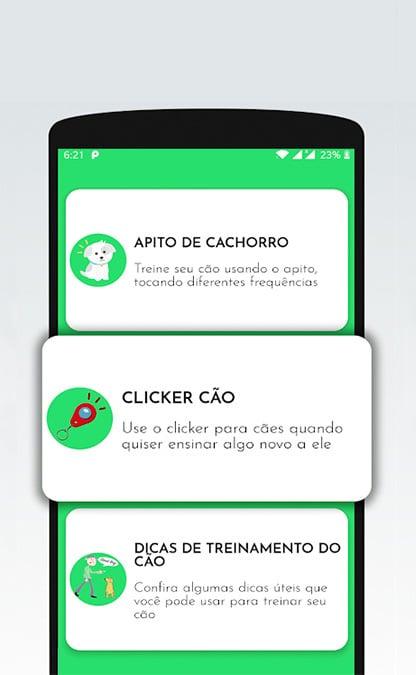 Captura de tela do aplicativo apito de cachorro