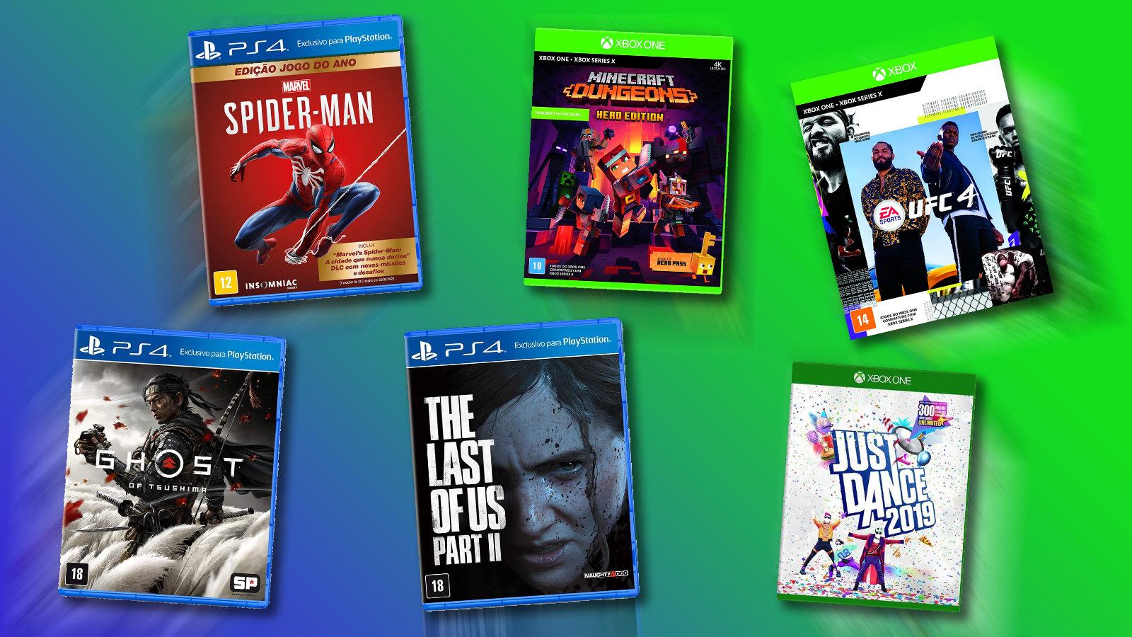 Jogos na black friday: games de sucesso e franquias essenciais para você conferir. Marvel's spider-man, the last of us e just dance são alguns dos jogos na black friday!