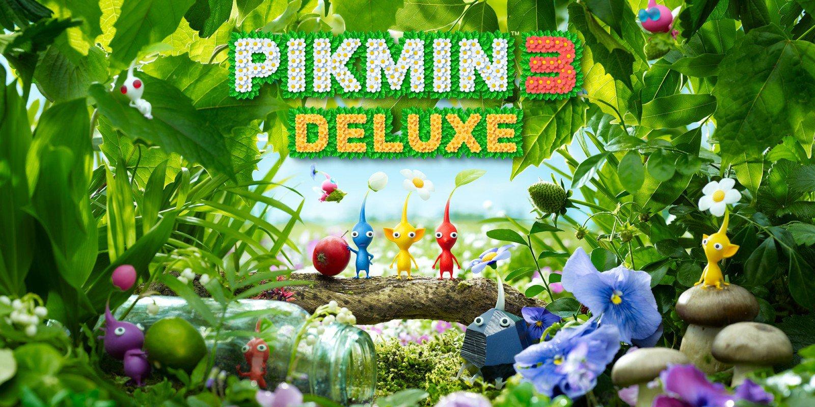 Imagem promocional de pikmin 3 deluxe.