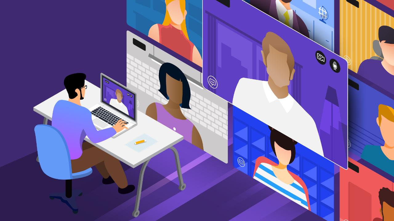 Como organizar uma conferência virtual para sua equipe