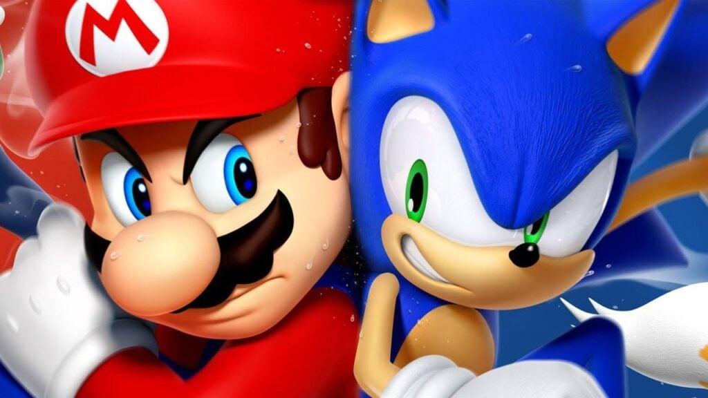 Sonic e mario nas console wars