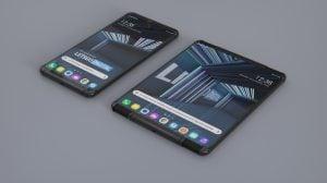 Imagem do smartphone enrolável da LG