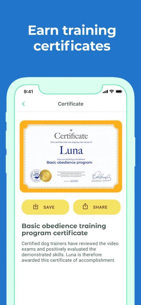 Captura de tela do aplicativo dog training & clicker