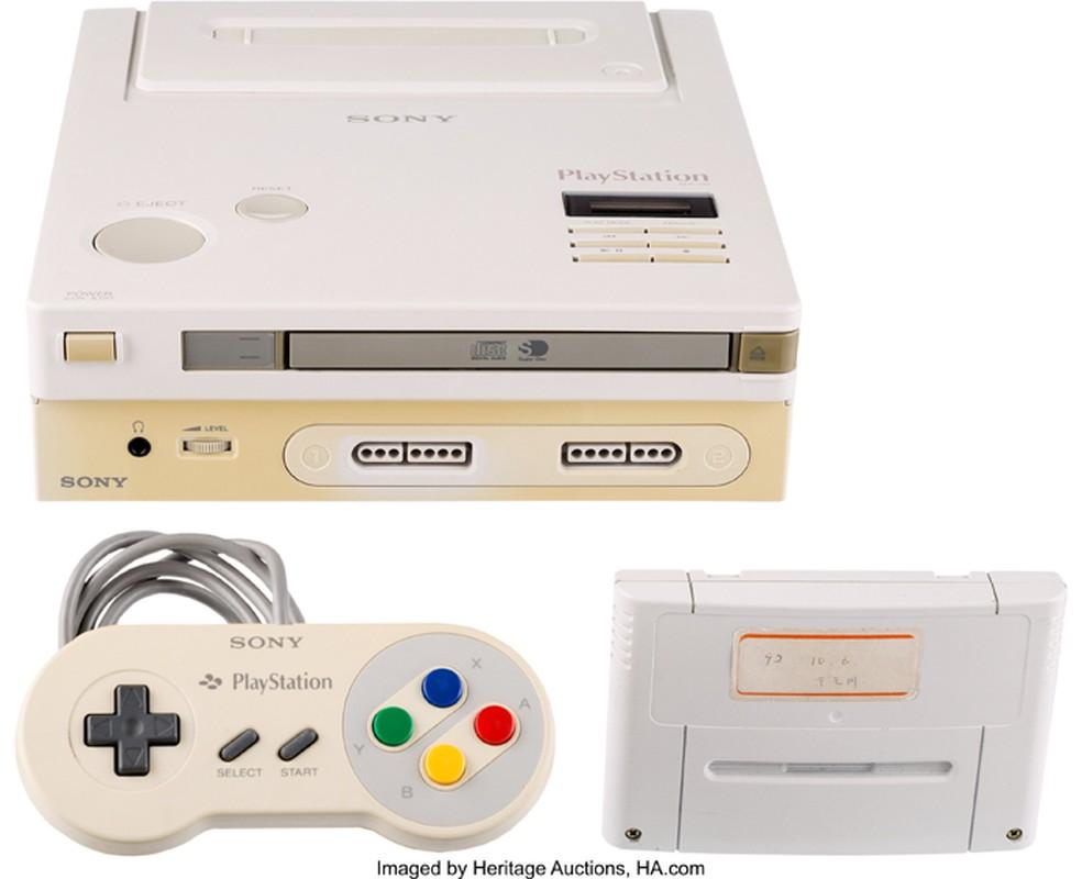 O console da nintendo que jamais foi lançado, o play station.