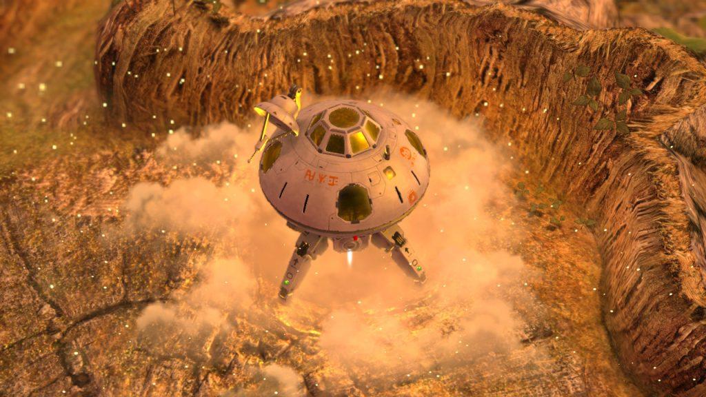 Nave parte do planeta pnf-404.