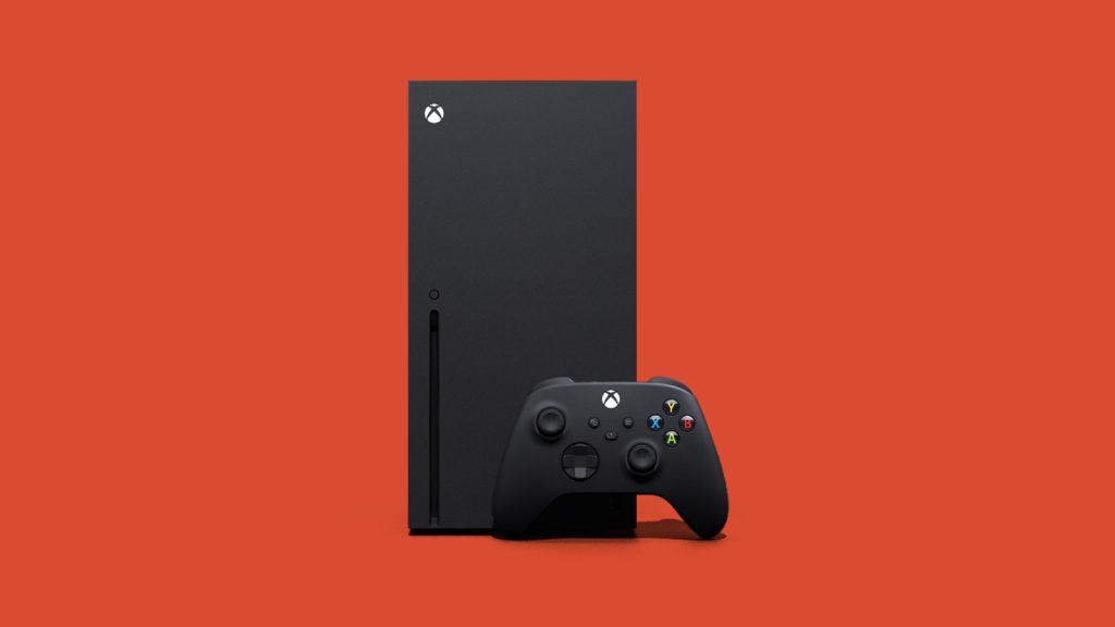 Xbox series x fundo laranja