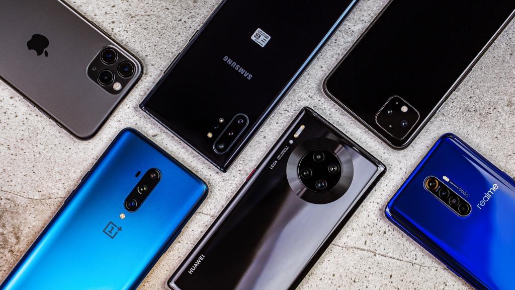 Vários modelos de smartphones para fotografias.