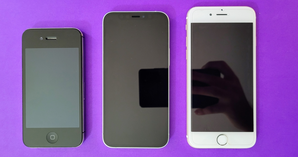 Iphone 4s, iphone 12 mini e iphone 6
