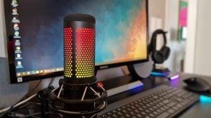 O hyperx quadcast s é um dos melhores microfone da categoria