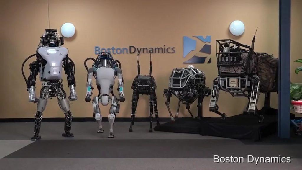 Robôs da boston dynamics dançam