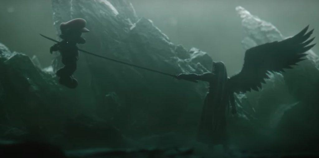 Aparição da personagem sephiroth, de final fantasy, no the game awards 2020.