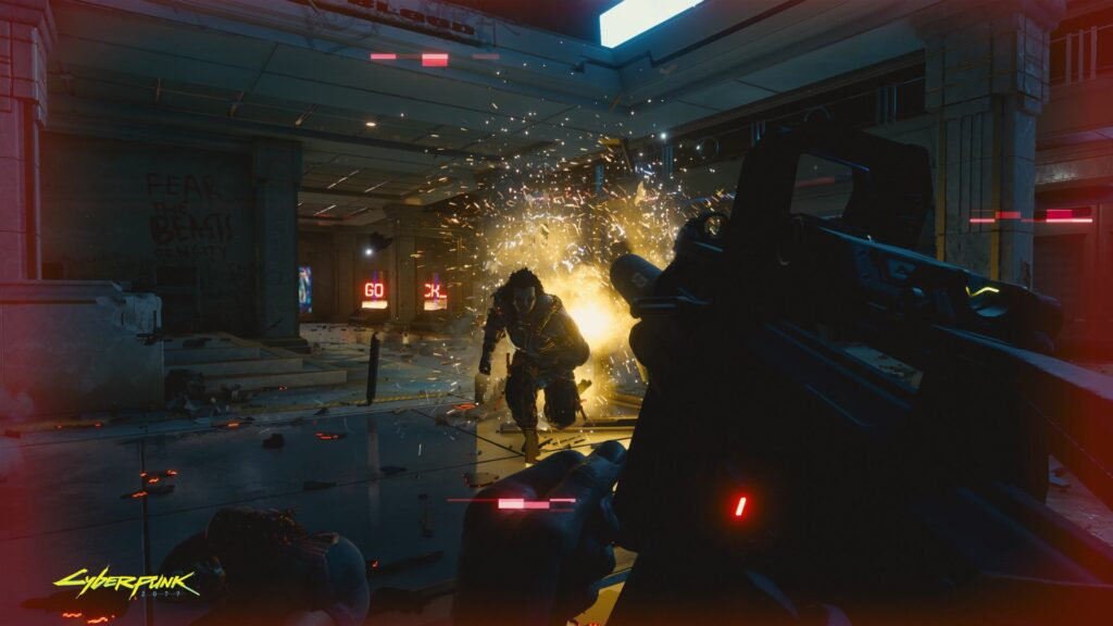 Cyberpunk 2077 chefão resistente toma tiros
