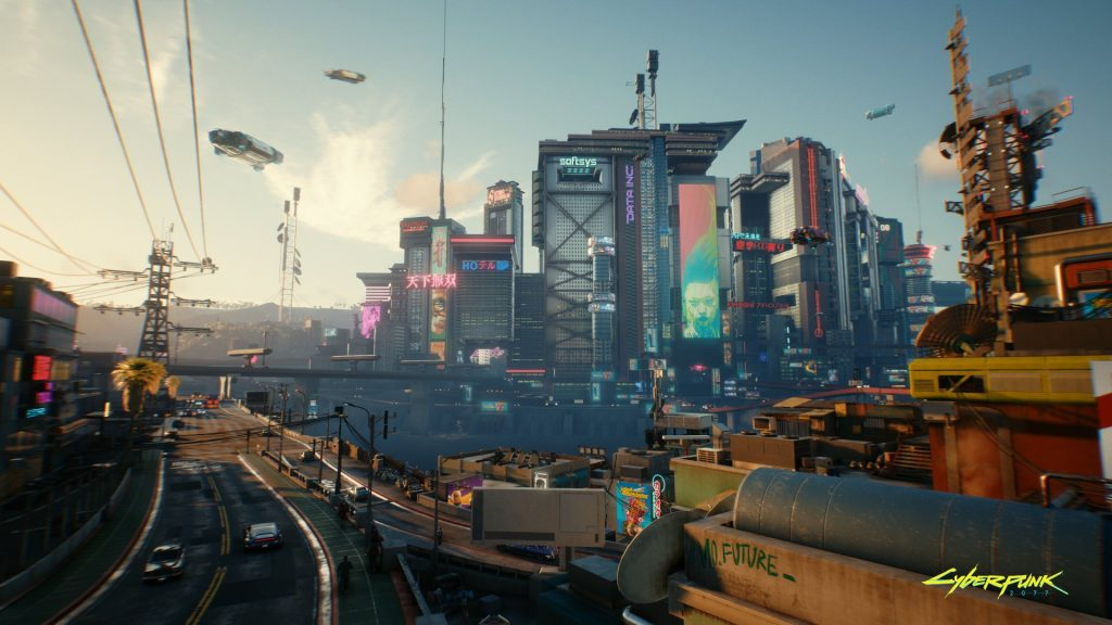 Cyberpunk 2077 night city de dia